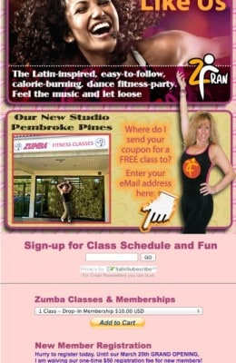 24 app zumba signup