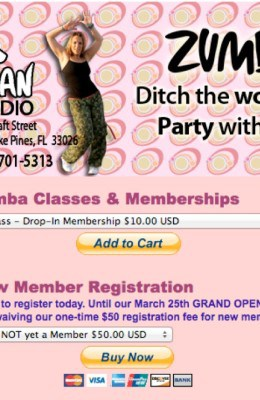 25 app zumba register
